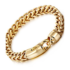 Kalen New Men's 18K Gold Plated Link Chain Bracelet 316L Stainless Steel Jewelry Hand Chain Cheap Accessories Gift