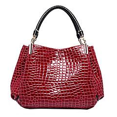 Women's Bags Patent Leather Tote Crocodile Black / Dark Blue / Dark Red