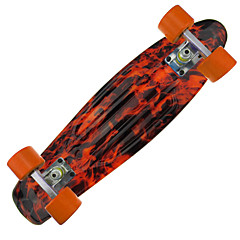 22 Inch Standard Skateboards Professional PP (Polypropylene) Aluminium Alloy PU ABEC-7-Orange
