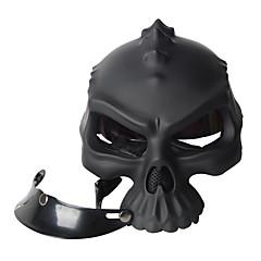 tanie Kaski i maski-Kolor podwójnego zastosowania czaszki casco nowosci retro hełm motocykl pół twarzy kasku