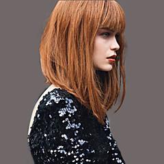 Недорогие Натуральные парики без шапочки-основы-элегантный моды прямые парики человеческих волос для женщин