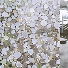 baratos Tratamentos para Janelas-Geométrica Moderna Película para Vidros, PVC/Vinil Material Decoração de janela Sala de Jantar Quarto Escritório Quarto das Crianças Sala