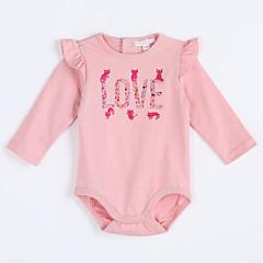 billige Babytøj-Baby Pige Ensfarvet Bomuld Bodysuit