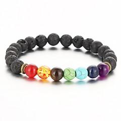 2016 New Natural Black Lava Stone Bracelets Balance Beads Bracelet for Men Women Stretch Yoga Jewelry Christmas Gifts