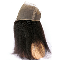 cheap Wigs & Hair Pieces-CARA 360 Frontal Straight / kinky Straight Free Part French Lace Human Hair With Baby Hair