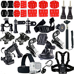 cheap Accessories For GoPro-Clip Lens Cap Screw Floating Buoy Suction Cup Straps Hand Grips/Finger Grooves Monopod Tripod Cleaning Tools Mount / Holder For Action