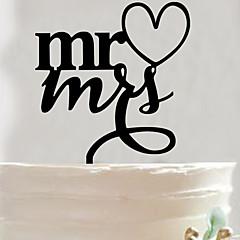 billige Kakedekorasjoner-Kakepynt Ikke-personalisert Akryl Bryllup / Jubileum / Bridal Shower SvartHage Tema / Asiatisk Tema / Blomster Tema / Sommerfugl Tema /