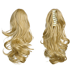 cheap Wigs & Hair Pieces-high quality synthetic stylish ponytail extension wavy claw ponytail pieces