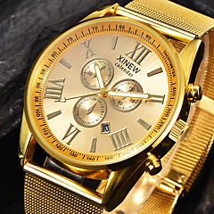 baratos -Homens Relógio de Moda Relógio de Pulso Quartzo Calendário Aço Inoxidável Banda Legal Preta