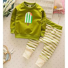 tanie Odzież dla chłopców-Brzdąc Dla chłopców Codzienne Jendolity kolor Długi rękaw Bawełna Komplet odzieży
