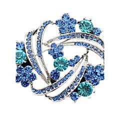 女性 ブローチ クリスタル イミテーションダイヤモンド ジュエリー 用途 結婚式 パーティー 日常 カジュアル