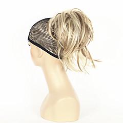 זול קוקו-קוקו שיער סינטטי חתיכת שיער הַאֲרָכַת שֵׂעָר ישר קצר