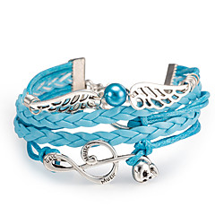 cheap -Women's Wrap Bracelet Alloy Wings / Feather Music Notes Jewelry Daily Office & Career Street