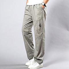 Męskie Rozmiar plus Luźna Typu Chino Spodnie Jendolity kolor