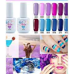 billige Neglelakk og gellakk-Neglelakk UV-Gel 15ml 1 Glitters UV Color Gel Klassisk Dypp av langvarig Daglig Glitters UV Color Gel Klassisk Høy kvalitet