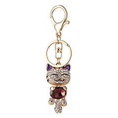 tanie Łańcuszki do kluczy-Łańcuszek do kluczy Biżuteria Black Beige Purple Czerwony Różowy Stop Zwierzęta euroamerykańskiej Słodkie Style Dla obu płci
