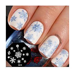 nail art timbre estampage plaque de modèle mignon flocon clou conception de l'outil