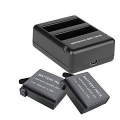 Battery Charger バッテリー ために Gopro 4 Silver Gopro 4 Session ユニバーサル トラベル