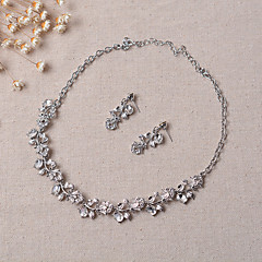 cheap Jewelry Sets-Women's Jewelry Set Earrings Necklace - Party Silver Jewelry Set Bridal Jewelry Sets For Wedding Party