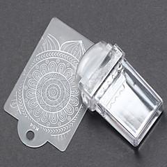 billige Neglestempling-1 Stamping Kit Nail Stamping Template Daglig Mote Høy kvalitet
