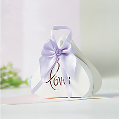 cheap Favor Holders-Creative Card Paper Favor Holder with Bowknot Favor Boxes Gift Boxes - 12