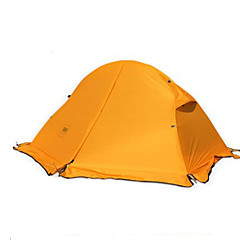 billige Telt og ly-Naturehike 1 person Telt Dobbelt camping Tent Ett Rom Brette Telt Hold Varm Fukt-sikker Velventilert Bærbar Ultra Lett (UL) Fort Tørring