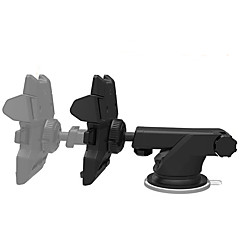 車のフロントガラス/ダッシュボードユニバーサルスマートフォンは、iPhone用のホルダー車のクレードルをマウント/アンドロイド-黒