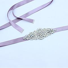 satijn huwelijksfeest / avondkleding met sjerpen met strass kristal kralen