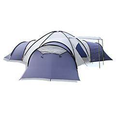 billige Telt og ly-8 personer  utendørs Telt Fukt-sikker Velventilert Pusteevne Overstørrelse Tre Rom Telt  til Jakt Vandring Camping Glassfiber polyester Oxford