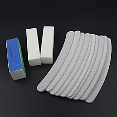13pcs / dosyaları zımpara set tampon blok tırnak sanat salonu manikür pedikür aletleri UV jel seti kitleri