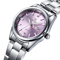 cheap Men's Watches-WWOOR Women's Quartz Wrist Watch Water Resistant / Water Proof Stainless Steel Band Charm Luxury Casual Fashion Silver