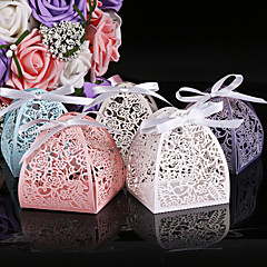 50pcs Laser Cut Flower Wedding Box Laser Cut Candy Box Favor Party Supplies