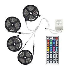 tanie Dekorativní osvětlení-20 m Zestawy oświetlenia 600 Diody LED 5050 SMD RGB Pilot zdalnego sterowania / Nadaje się do krojenia / Przygaszanie / Możliwość połączenia / Odpowiednie do samochodu / Samoprzylepne / IP44