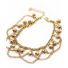 baratos Bijoux de Corps-Franjas Tornezeleira - Chapeado Dourado Original, Borla, Boêmio Dourado Para Diário Casual Mulheres