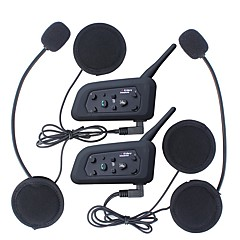 2 stuks 1200m waterdicht motorhelm intercominstallatie bluetooth intercom headset v6 intercom Intercomunicador moto interfones helm