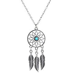 Dames Hangertjes ketting Turkoois Bladvorm Wings Verguld Turkoois Legering Basisontwerp Kostuum juwelen Kwasten Modieus Bohemia Style