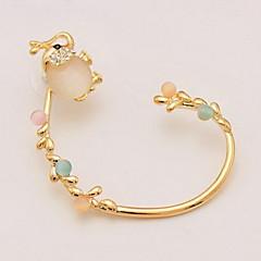 Modny Słodkie Style Osobiste Opal Stop Animal Shape Słoń Silver Golden Biżuteria Na Codzienny Casual 1szt