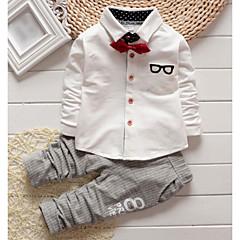 tanie Odzież dla chłopców-Brzdąc Dla chłopców Podstawowy Solidne kolory / Prążki Nadruk Długi rękaw Bawełna Komplet odzieży