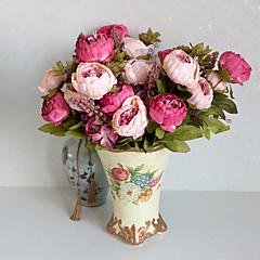 ieftine -1 ramură Poliester Bujori Față de masă flori Flori artificiale 10