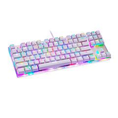 billiga Keyboards-motospeed Kabel RGB bakgrundsbelysning blå Switches 84 mekanisk Tangentbord bakgrundsbelyst