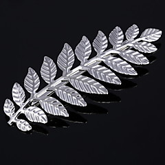 cheap Wigs & Hair Pieces-New Retro Metal Feather Hair Clips Han Edition Spring Clip Bang Clip 2 PCS