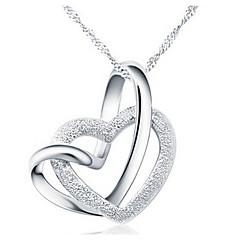 ieftine -Pentru femei Inimă Formă Iubire Inimă Coliere cu Pandativ Aliaj Coliere cu Pandativ Petrecere Aniversare Zi de Naștere Mulțumesc Zilnic