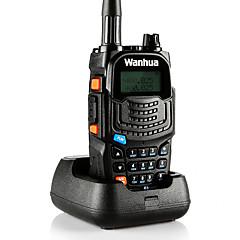 billige Walkie-talkies-wanhua UV6S Walkie-talkie Håndholdt Dobbelt bånd Strømsparefunksjon Stemmekommando LCD Overvågning >10 km >10 km 128 8 Walkie Talkie