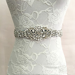 Satin Wedding Party/ Evening Dailywear Sash With Rhinestone Crystal