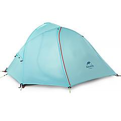 """Naturehike 2 אנשים אוהל כפול קמפינג אוהל חדר אחד אוהלים לטיפוס הרים עמיד מוגן מגשם ל צעידה קמפינג מעל 3000 מ""""מ ניילון CM"""
