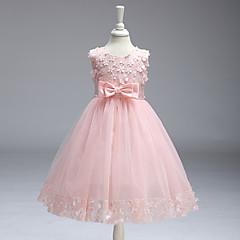 Mädchen Kleid Ausgehen Solide Baumwolle Polyester Sommer Ärmellos