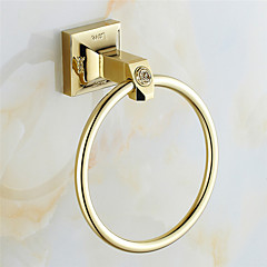 cheap -Towel Ring Contemporary Brass Stainless Steel 16.5CM Towel Ring Wall Mounted