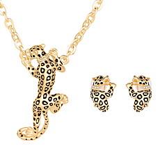 baratos Conjuntos de Bijuteria-Mulheres Conjunto de jóias - Animal Incluir Conjuntos de anéis Dourado / Prata Para Casamento Festa Diário / Colares