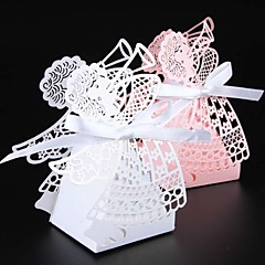 cheap Favor Holders-Creative Pearl Paper Favor Holder with Ribbons Favor Boxes - 50