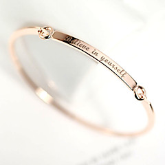 Personalized Initials Bracelet & Bangle DIY Women's Gift Rose Gold Plated Bar Custom Engraved Name Bracelet Letters Jewelry